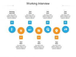 Working Interview Ppt Powerpoint Presentation Infographic Template Microsoft Cpb
