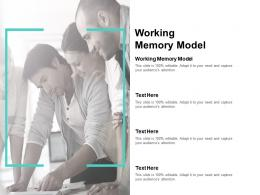 Working Memory Model Ppt Powerpoint Presentation Professional Inspiration Cpb