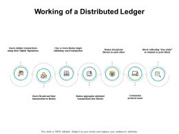 Working Of A Distributed Ledger Process Ppt Powerpoint Presentation Pictures Guide