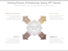 Working Process Of Multivariate Testing Ppt Sample