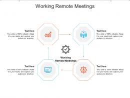 Working Remote Meetings Ppt Powerpoint Presentation Ideas Slides Cpb
