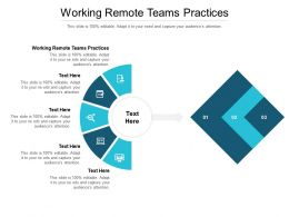 Working Remote Teams Practices Ppt Powerpoint Presentation Icon Objects Cpb