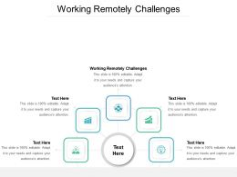Working Remotely Challenges Ppt Powerpoint Presentation Pictures Visual Aids Cpb