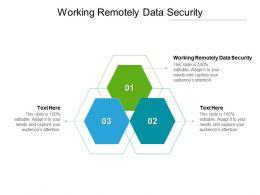 Working Remotely Data Security Ppt Powerpoint Presentation Infographics Graphics Tutorials Cpb
