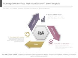 Working Sales Process Representation Ppt Slide Template