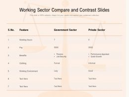 Working Sector Compare And Contrast Slides