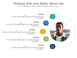 Working Skills And Ability About Me Infographic Template