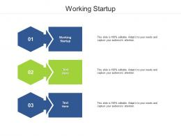 Working Startup Ppt Powerpoint Presentation Ideas Show Cpb