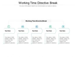 Working Time Directive Break Ppt Powerpoint Presentation Model Deck Cpb