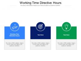 Working Time Directive Hours Ppt Powerpoint Presentation Ideas Format Cpb