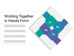 Working Together In Hands Form