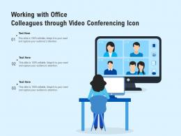 Working With Office Colleagues Through Video Conferencing Icon