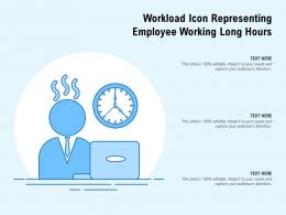 Workload Icon Representing Employee Working Long Hours