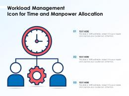 Workload Management Icon For Time And Manpower Allocation