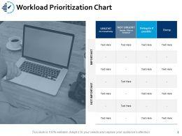 Workload Prioritization Chart Marketing Ppt Powerpoint Presentation Portfolio Format