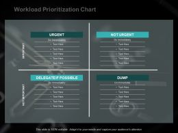 Workload Prioritization Chart Ppt Powerpoint Presentation Outline Format
