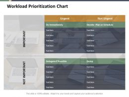 Workload Prioritization Chart Ppt Professional Master Slide