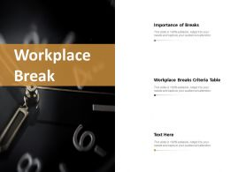 Workplace Break Ppt Professional Graphics Template