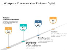 Workplace Communication Platforms Digital Marketing Budget Example Crisis Management Cpb