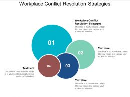 Workplace Conflict Resolution Strategies Ppt Powerpoint Presentation Layouts Cpb