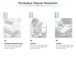 Workplace Dispute Resolution Ppt Powerpoint Presentation Infographic Template Clipart Cpb