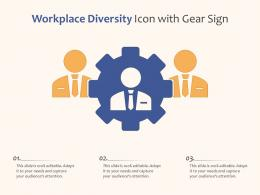 Workplace Diversity Icon With Gear Sign