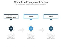 Workplace Engagement Survey Ppt Powerpoint Presentation Tutorials Cpb
