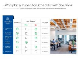 Workplace Inspection Checklist With Solutions