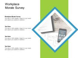 Workplace Morale Survey Ppt Powerpoint Presentation Inspiration Design Inspiration Cpb