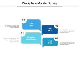 Workplace Morale Survey Ppt Powerpoint Presentation Pictures Examples Cpb