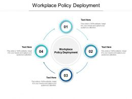 Workplace Policy Deployment Ppt Powerpoint Presentation Infographics Portfolio Cpb