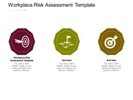 Workplace Risk Assessment Template Ppt Powerpoint Presentation Model Mockup Cpb