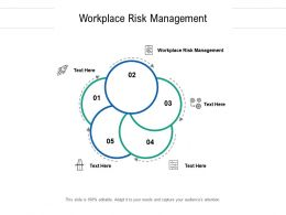 Workplace Risk Management Ppt Powerpoint Presentation Model Graphic Tips Cpb