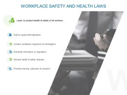 Workplace Safety And Health Laws Ppt Powerpoint Outline Slideshow