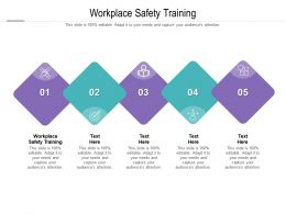 Workplace Safety Training Ppt Powerpoint Presentation Background Cpb