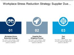 Workplace Stress Reduction Strategy Supplier Due Diligence Process Cpb