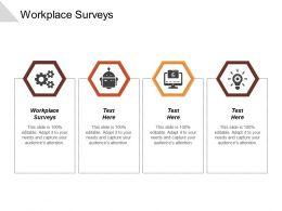 workplace_surveys_ppt_powerpoint_presentation_outline_infographics_cpb_Slide01