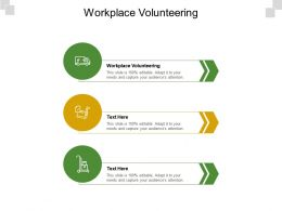 Workplace Volunteering Ppt Powerpoint Presentation Show Visuals Cpb