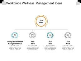 Workplace Wellness Management Ideas Ppt Powerpoint Presentation Portfolio Show Cpb