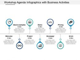 Workshop Agenda Infographics With Business Activities