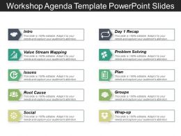 Workshop Agenda Template PowerPoint Slides