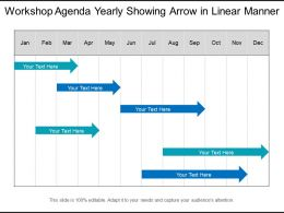 Workshop Agenda Yearly Showing Arrow In Linear Manner