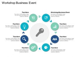 Workshop Business Event Ppt Powerpoint Presentation Icon Graphics Template Cpb