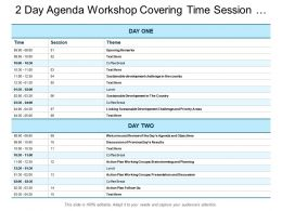 Workshop Covering Time Session And Theme
