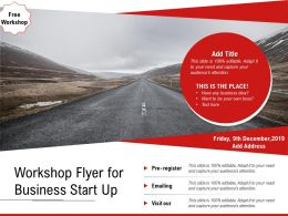 Workshop Flyer For Business Start Up