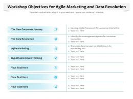 Workshop Objectives For Agile Marketing And Data Revolution