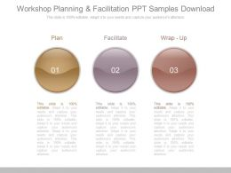 Workshop Planning And Facilitation Ppt Samples Download