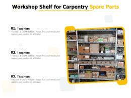 Workshop Shelf For Carpentry Spare Parts