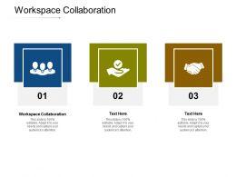 Workspace Collaboration Ppt Powerpoint Presentation Slides Brochure Cpb