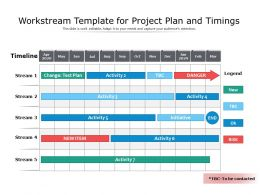 Workstream Template For Project Plan And Timings